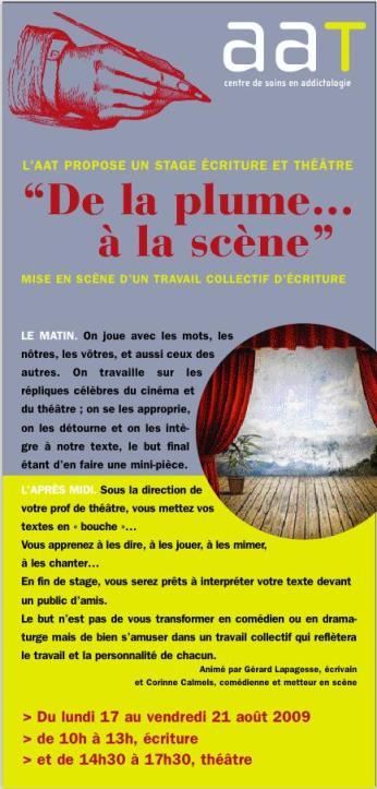 2009 08 stage ecriture et theatre