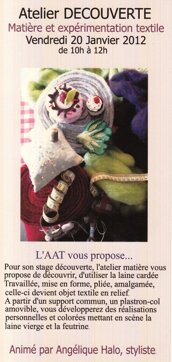 2012 01 séance découverte atelier textile