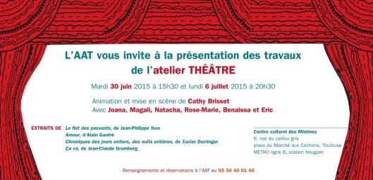 Représentations annuelles de l'Atelier Théâtre